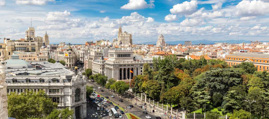 overview of buildings in madrid