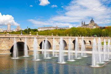 segovia bridge over the manzanares river in madrid