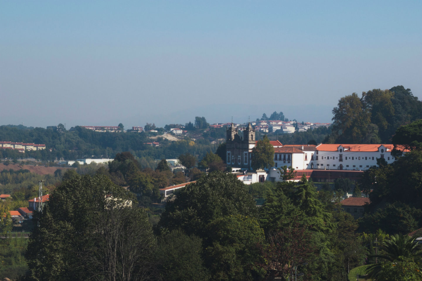 overview of trees and buildings in guimaraes