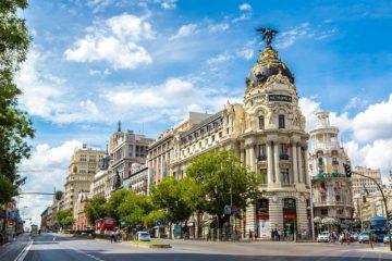 Metropolis building in Gran Vía, Madrid