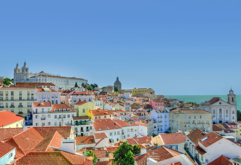 overview of alfama in lisbon