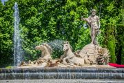 Neptune fountain in Madrid