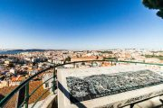 View of Lisbon's streets and buildings from the Nossa Senhora do Monte viewpoint
