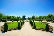 Garden view of Parque del Retiro in Madrid